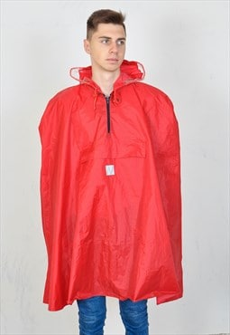 Vintage 90's rain coat in red