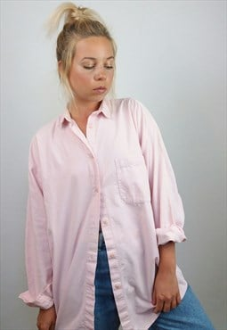 Vintage 90's Button-up Soft Corduroy Shirt in Powder Pink