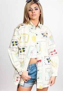 Vintage Multicoloured Pattern Shirt