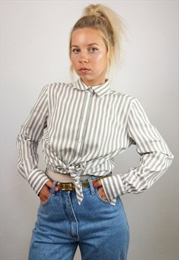 ETERNA Vintage 90's Button-up Striped Shirt / Blouse
