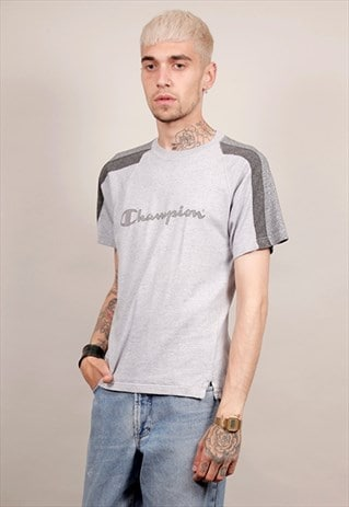 VINTAGE 90'S GREY TONAL CHAMPION T-SHIRT