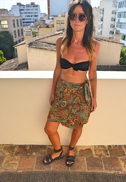 Vintage 90's Wrap Around Skirt Sarong