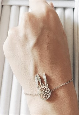 Silver Dream Catcher Minimalist Dreamcatcher Bracelet