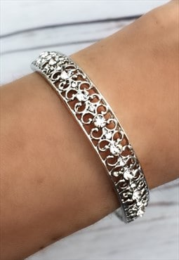 Silver Coloured Bangle Bracelet