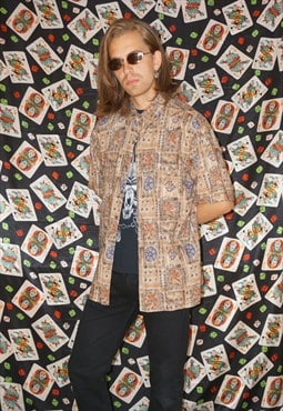 Vintage 90's Abstract Pattern Shirt
