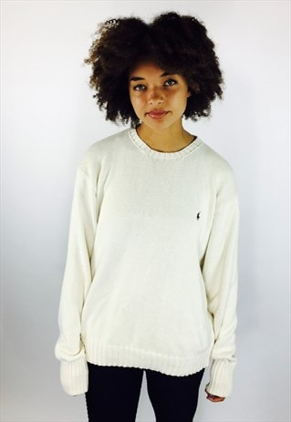 RALPH LAUREN COTTON KNIT JUMPER