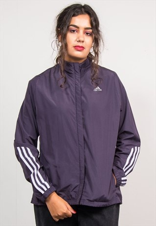 VINTAGE 90'S PURPLE ADIDAS SPORTS TRACKSUIT JACKET