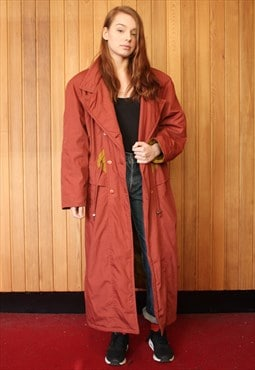 Vintage 1980s Red Winter Coat