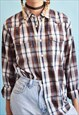 90'S RETRO WRANGLER CHECKED OVERSIZED WORKWEAR SHIRT TOP