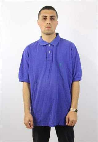 VINTAGE POLO RALPH LAUREN BLUE POLO SHIRT