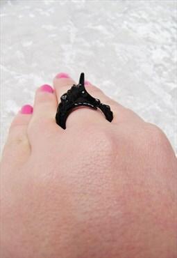 Unicorn Black Wrap Ring