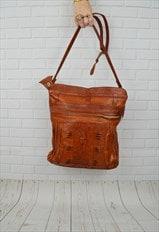 Ruched Tan Shoulder Bag
