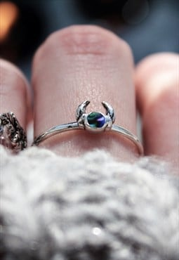 The Captured Abalone Sterling Silver Ring