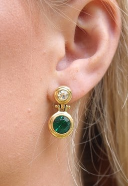 1980's Emerald Swing Drop Earrings