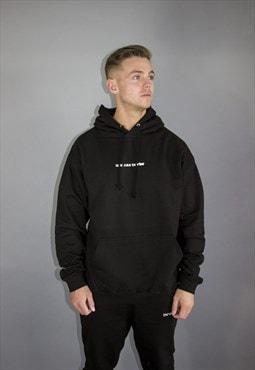black hoodie slim fit oversized grey