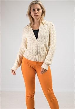 Vintage Ralph Lauren Knitted Zip-Up Hoodie