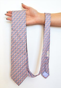Vintage Hermes Hot Air baloon lucky silk tie