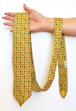 Vintage Hermes apple Fruit fruity Basket silk tie