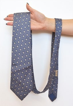 Vintage Hermes luxury diamond jewel star silk tie