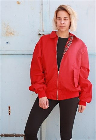 VINTAGE 90' CLASSIC UNISEX HARINGTON RED JACKET