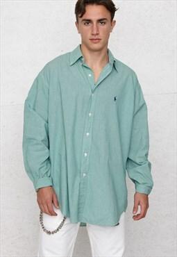 Vintage Green RALPH LAUREN Long Sleeve Checkered Shirt