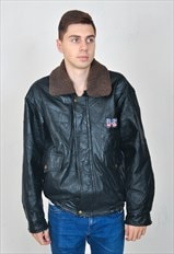 Vintage 80's real leather jacket