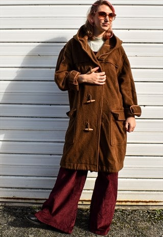 VINTAGE WOOL DUFFEL COAT
