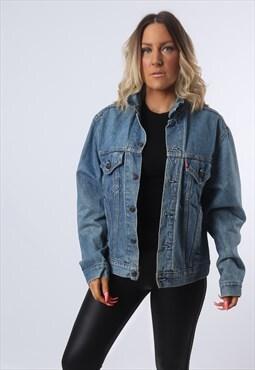 LEVIS Denim Jacket Fitted Oversized UK 16  (KBF)