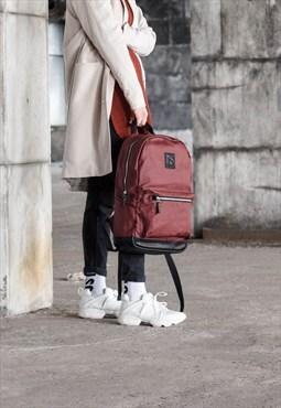 Womens Backpack, Red Backpack, Canvas Backpack, Zipper Bag