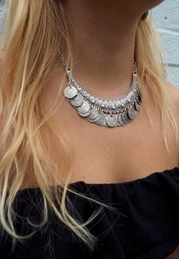 HEDONIST Silver Coin Necklace