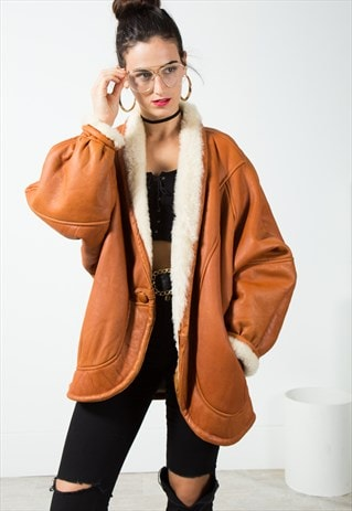 VINTAGE FAUX FUR COAT / S114