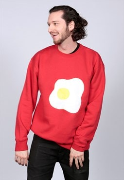 Red Fried Egg Sweatshirt