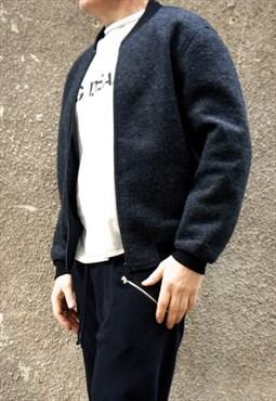 Dark Grey Coat/Black Zipper Neoprene  Side Pockets A20563