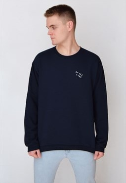 Navy Oh Yes I Can (White) Sweatshirt