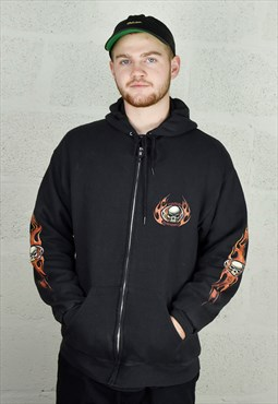Unisex Harley Davidson 'Gowonda New York' Zip up Hoodie