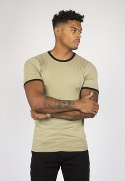 Frisco Khaki Muscle Fit T-shirt