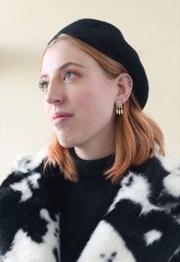 Gold Mini Dream Catcher Earrings