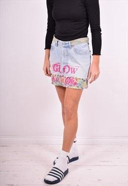 Levi's Womens Vintage Denim Skirt W28 Blue 90's