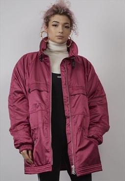 RARE Vintage 80's Sergio Tacchini pink padded coat