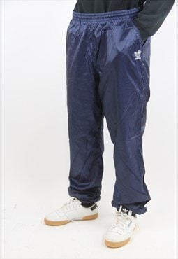 Vintage Adidas 90's Navy Shell Tracksuit Bottoms