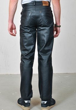 Vintage 90's real leather trousers