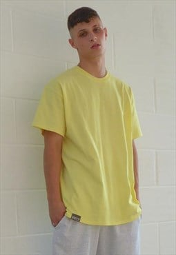 New Oversized 90s Compton Fit T-shirt in Lemon Yellow