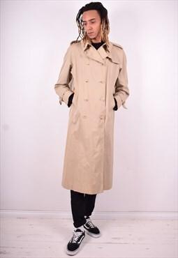 Aquascutum Mens Vintage Coat Medium Beige 90's