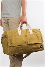Weekender Italy canvas & leather  - Olive