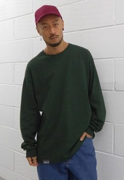 New Ultra Baggy Long Sleeve T-Shirt Forest Green