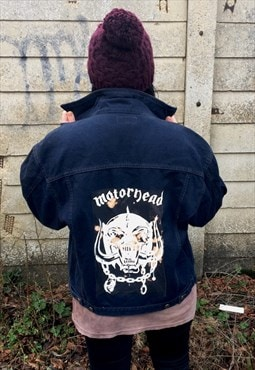 Denim Jacket With Motorhead Back Patch