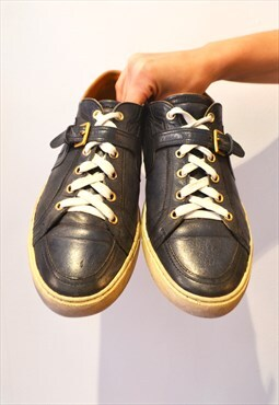 VTG HERMES leather Mens trainers