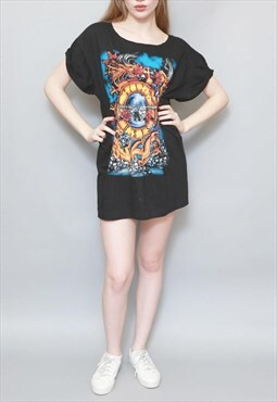 Vintage 1990's 'Guns N Roses' Band Long T-Shirt Tunic