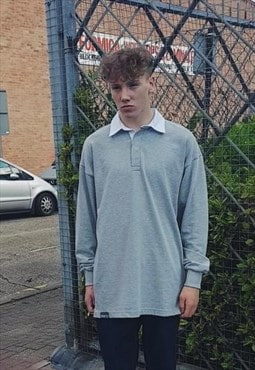 NEW Ultra Baggy Rugby Shirt Grey