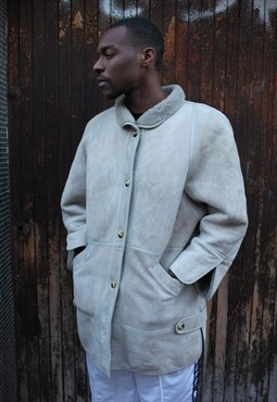Vintage Faux-Fur Suede sheepskin Coat